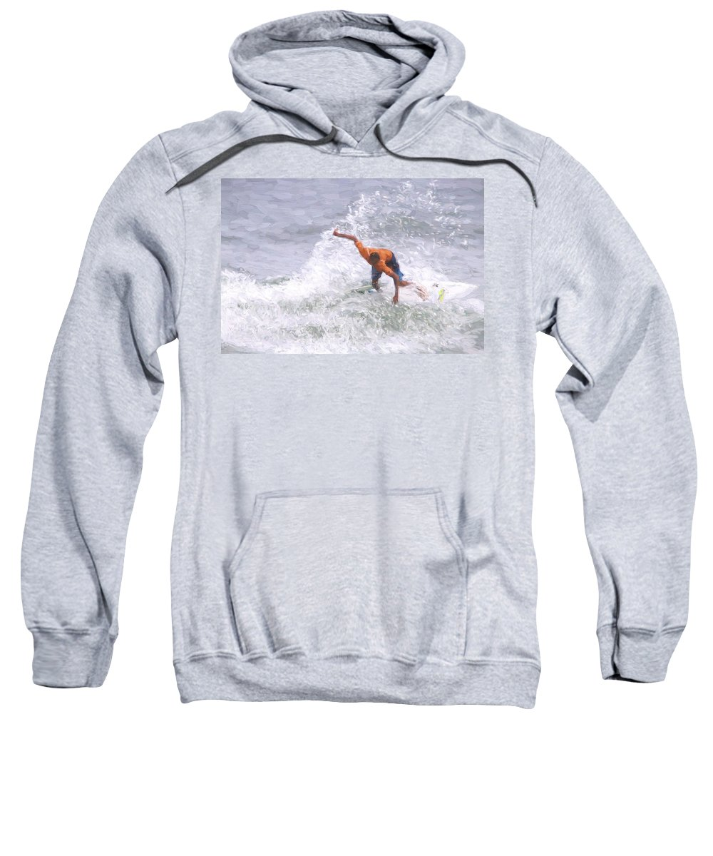 Surfer Sweatshirt featuring the photograph Good Surf by Alice Gipson