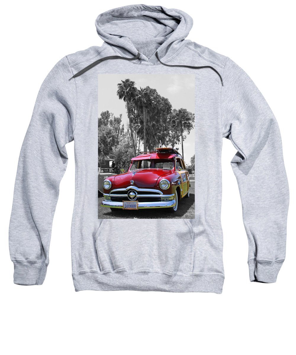 Classic Car Sweatshirt featuring the photograph Got Wood? by Shoal Hollingsworth