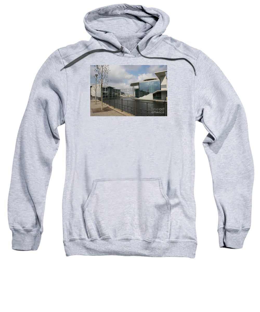 Goverment Building Sweatshirt featuring the photograph Government Building And Spree by Christiane Schulze Art And Photography