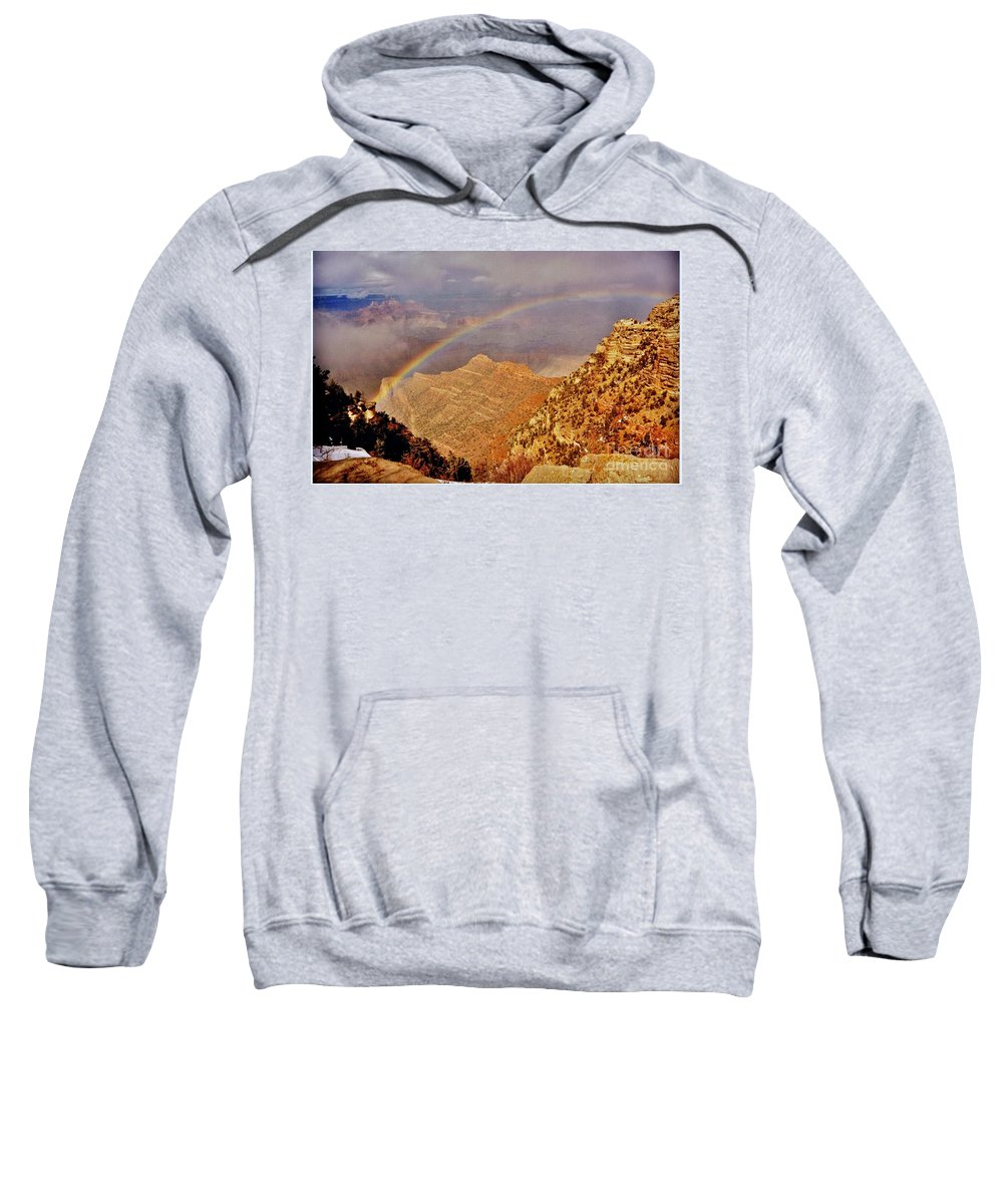 Grand Canyon Rainbow Sweatshirt featuring the photograph Grand Canyon Rainbow by Marilyn Smith