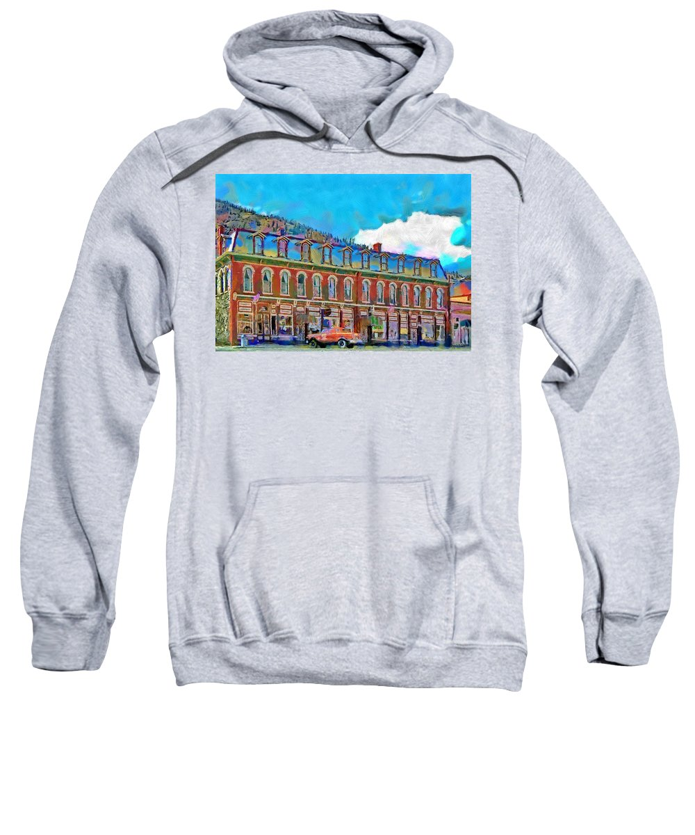 Shop Sweatshirt featuring the painting Grand Imperial Hotel by Jeffrey Kolker