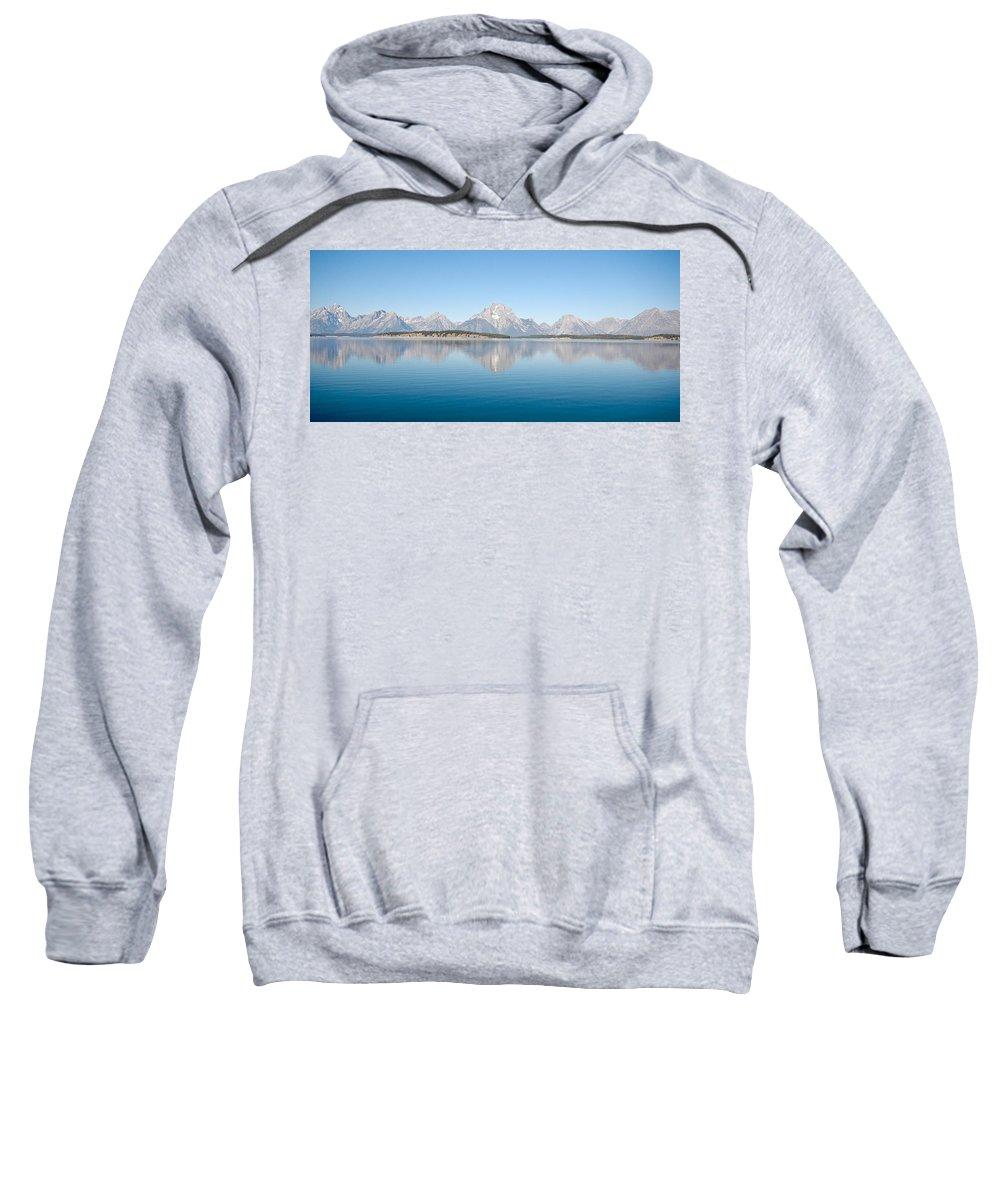Grand Teton Sweatshirt featuring the photograph Grand Teton National Park by Sebastian Musial