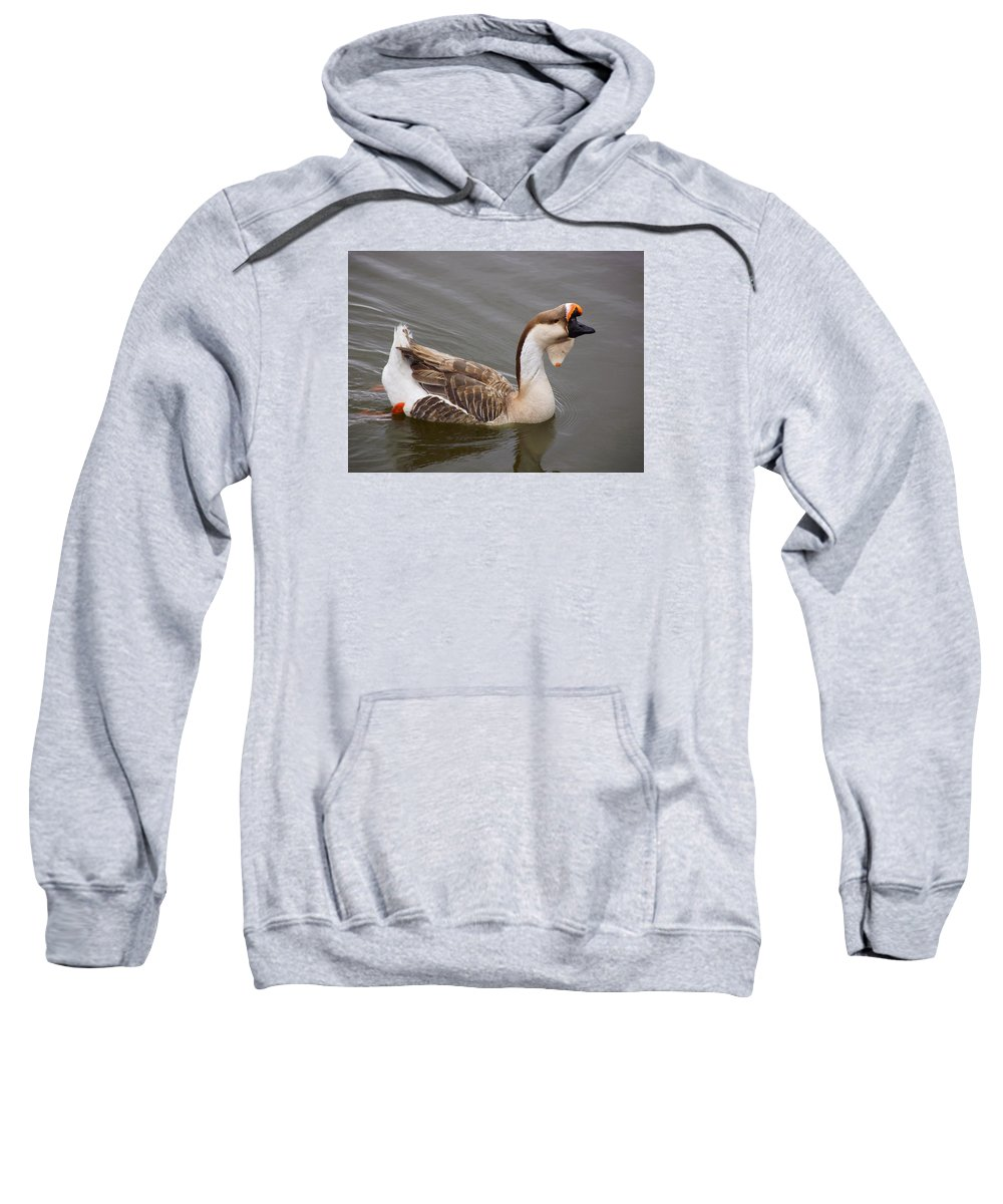 Grandest Sweatshirt featuring the photograph Grandest Gander by Mike and Sharon Mathews