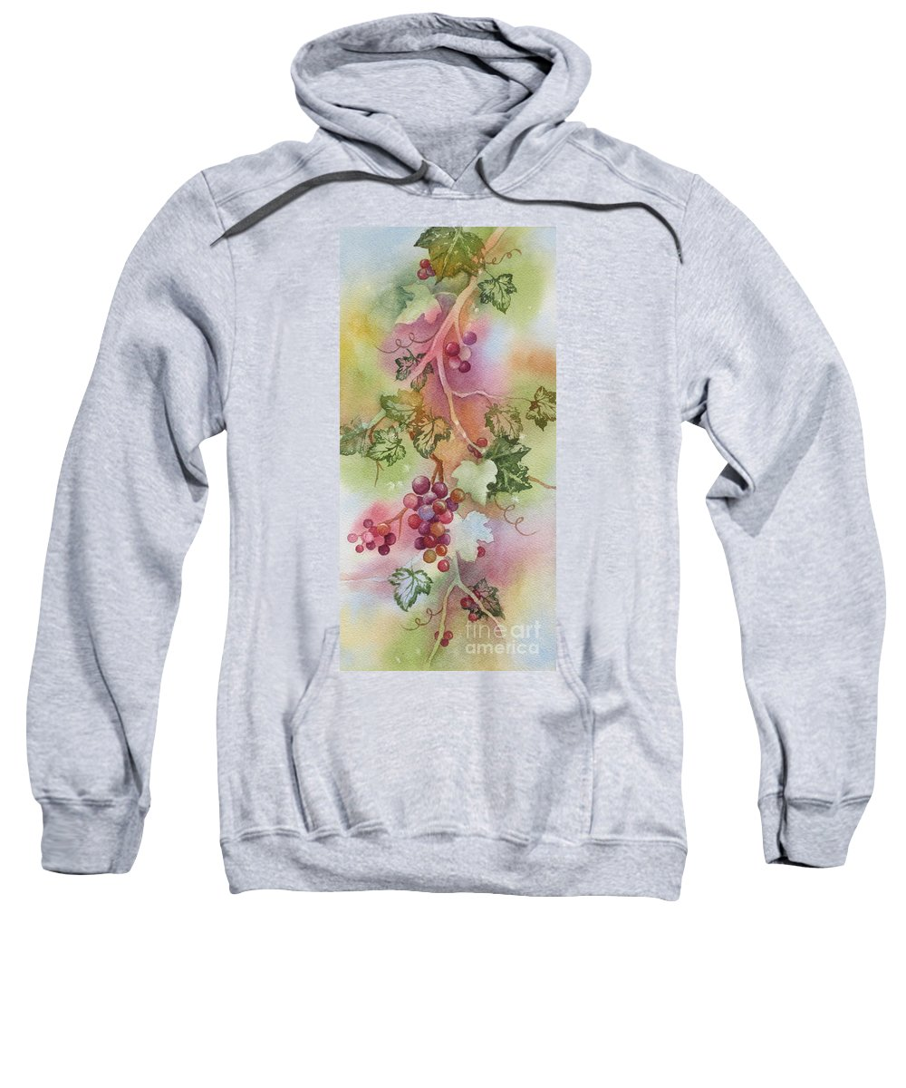 Grapevine Sweatshirt featuring the painting Grapevine by Deborah Ronglien