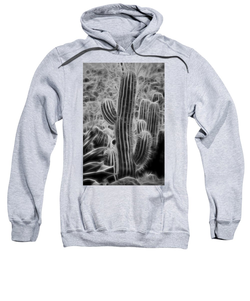 Graphic Cactus Sweatshirt featuring the photograph Graphic Cactus by Kelley King
