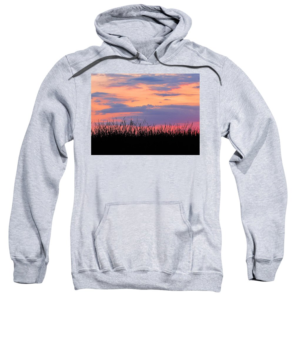 Ron Tackett Sweatshirt featuring the photograph Grassy Sunset by Ron Tackett