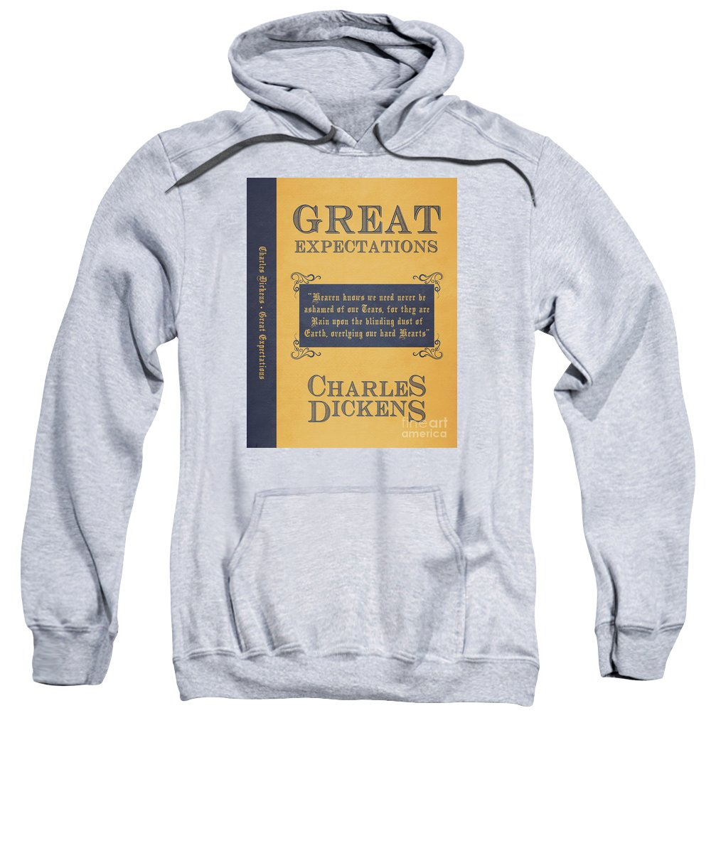 Great Expectations Sweatshirt featuring the digital art Great Expectations By Charles Dickens Book Cover Poster Art 1 by Nishanth Gopinathan