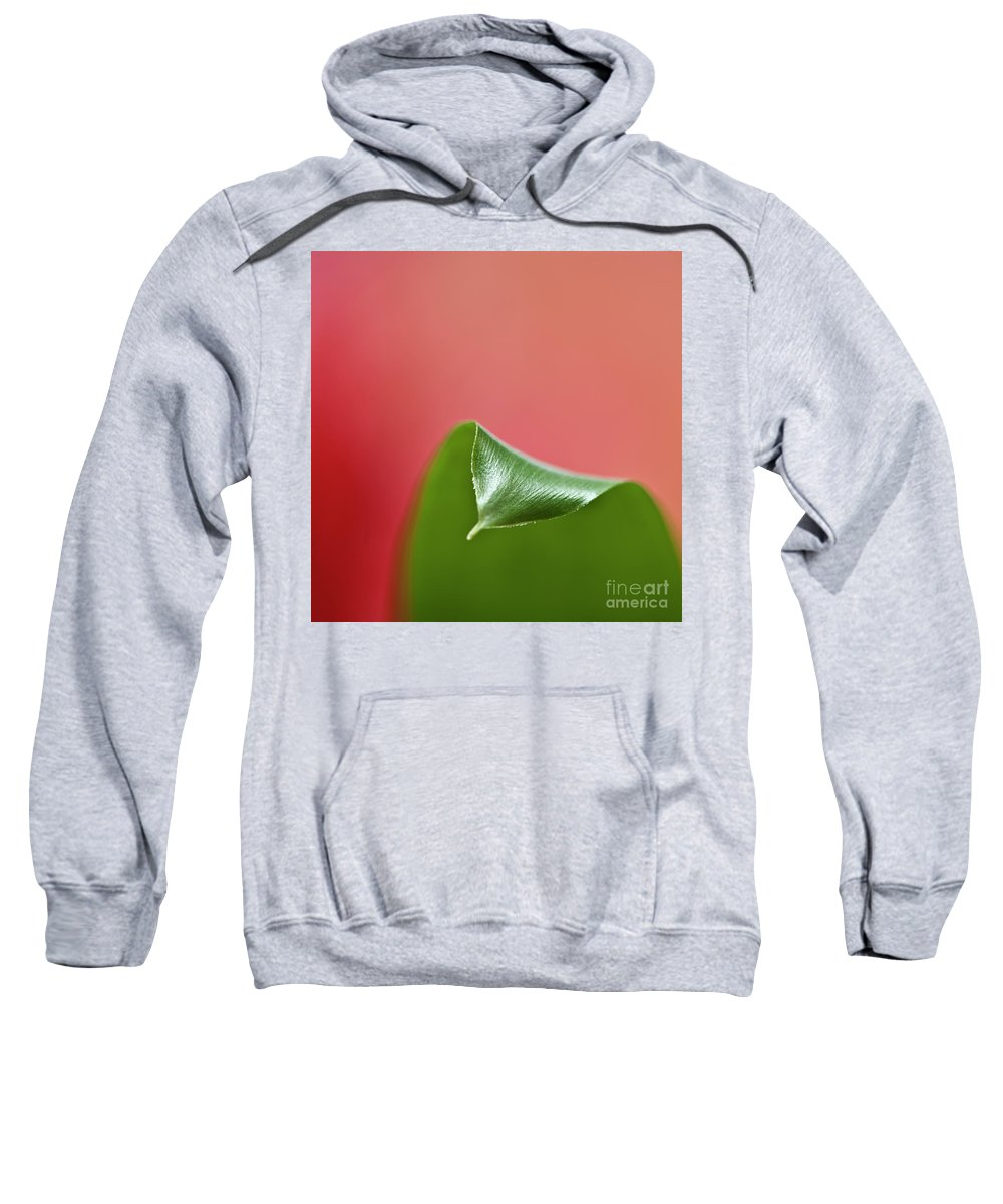 Heiko Sweatshirt featuring the photograph Green And Red by Heiko Koehrer-Wagner