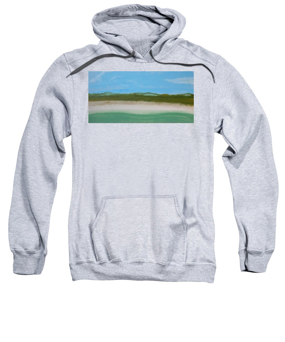 Beach Sweatshirt featuring the painting Green Dunes by Rhodes Rumsey