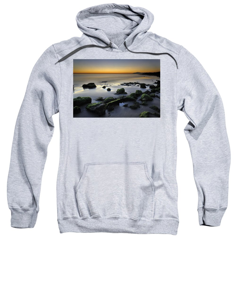 Sunset Sweatshirt featuring the photograph Green Rocks At Sunset by Guido Montanes Castillo