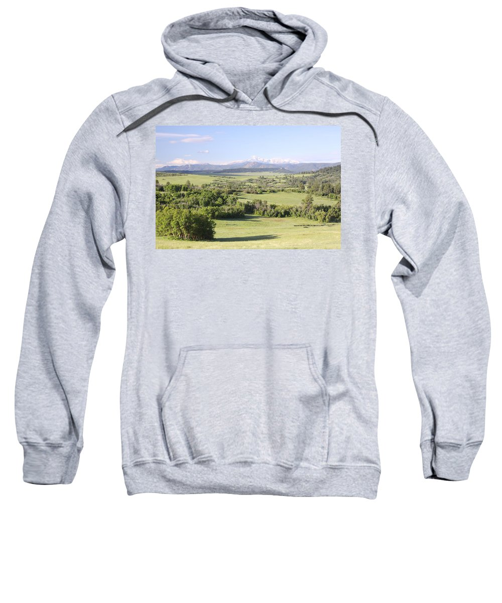 Colorado Sweatshirt featuring the photograph Greenland Ranch by Eric Glaser