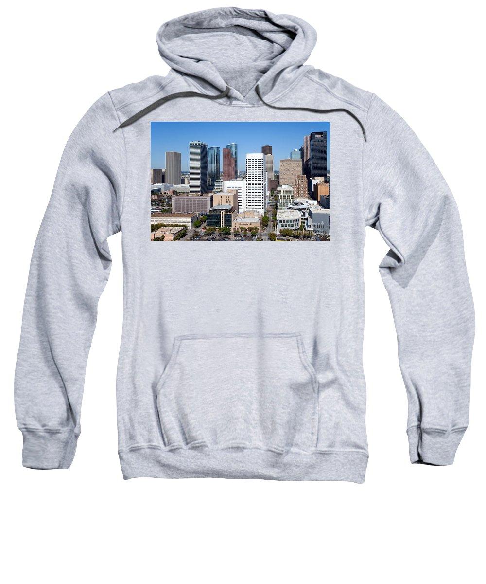 Houston Sweatshirt featuring the photograph Greenstreet Houston by Bill Cobb