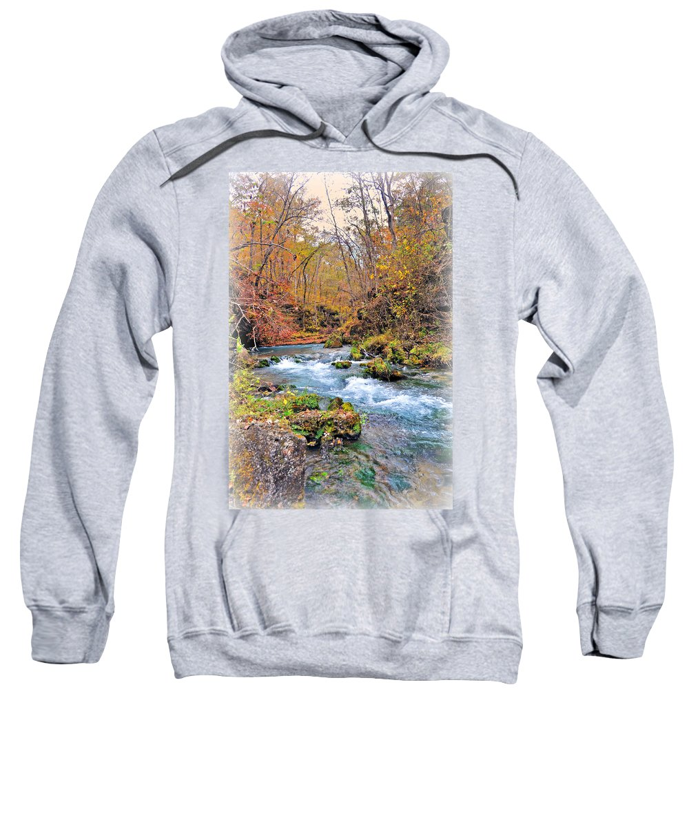 Greer Spring Sweatshirt featuring the photograph Greer Spring In Fall by Marty Koch