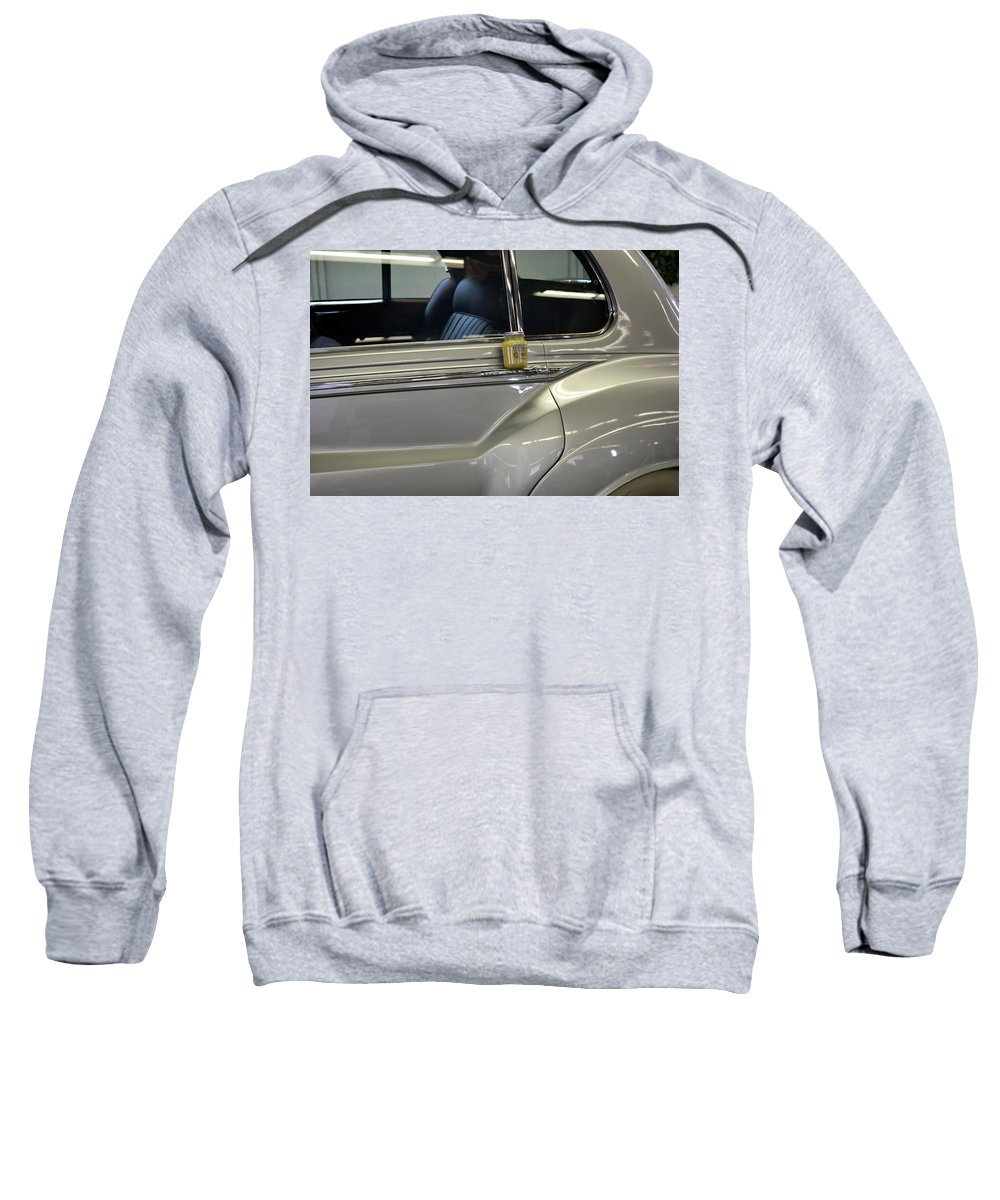 Rolls Royce Sweatshirt featuring the photograph Grey Poupon And Rolls Royce by Kathy Barney