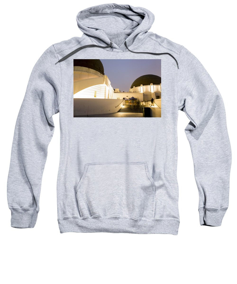 Griffith Park Observatory Sweatshirt featuring the photograph Griffith Park Observatory No. 3 by Belinda Greb