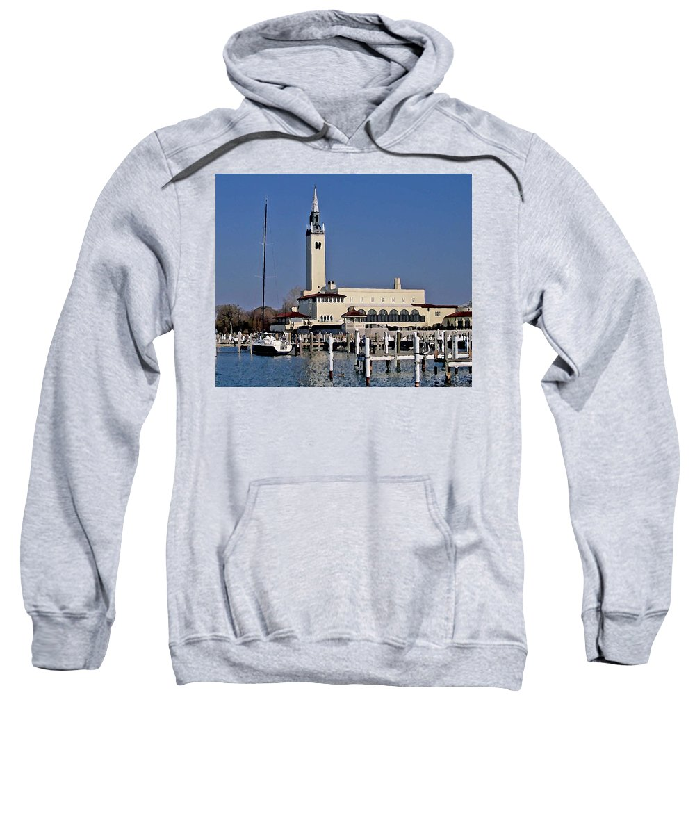 Fairhope Sweatshirt featuring the photograph Grosse Point Yacht Club by Michael Thomas