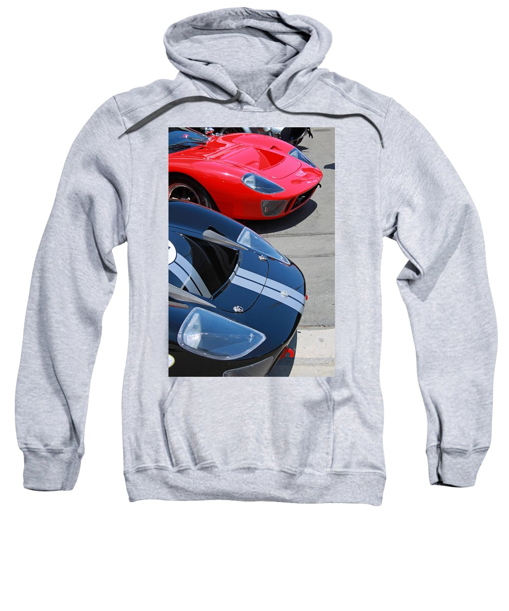 Ford Gt40 Sweatshirt featuring the photograph Gt40s by Shoal Hollingsworth
