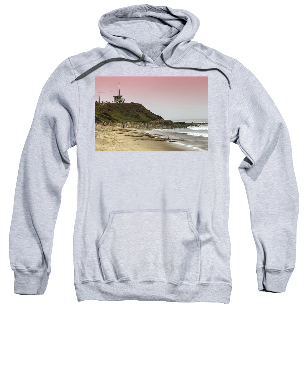 Lifeguard Sweatshirt featuring the photograph Guarding Lives by Ricky Barnard