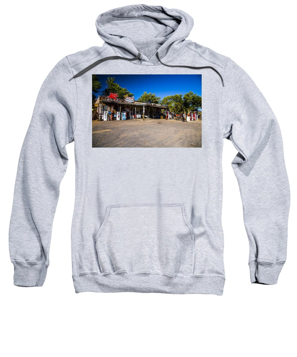 Route 66 Sweatshirt featuring the photograph Hackberry General Store by Angus Hooper Iii