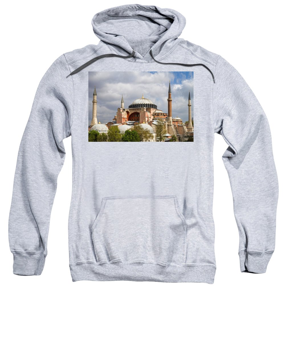 Hagia Sophia Sweatshirt featuring the photograph Hagia Sophia Istanbul by For Ninety One Days
