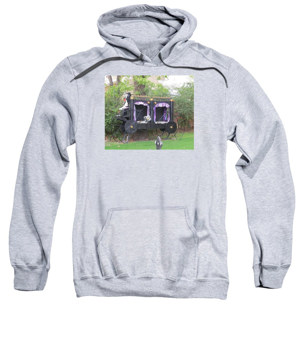 Haunted Carriage Sweatshirt featuring the photograph Halloween Carriage by Donna Wilson