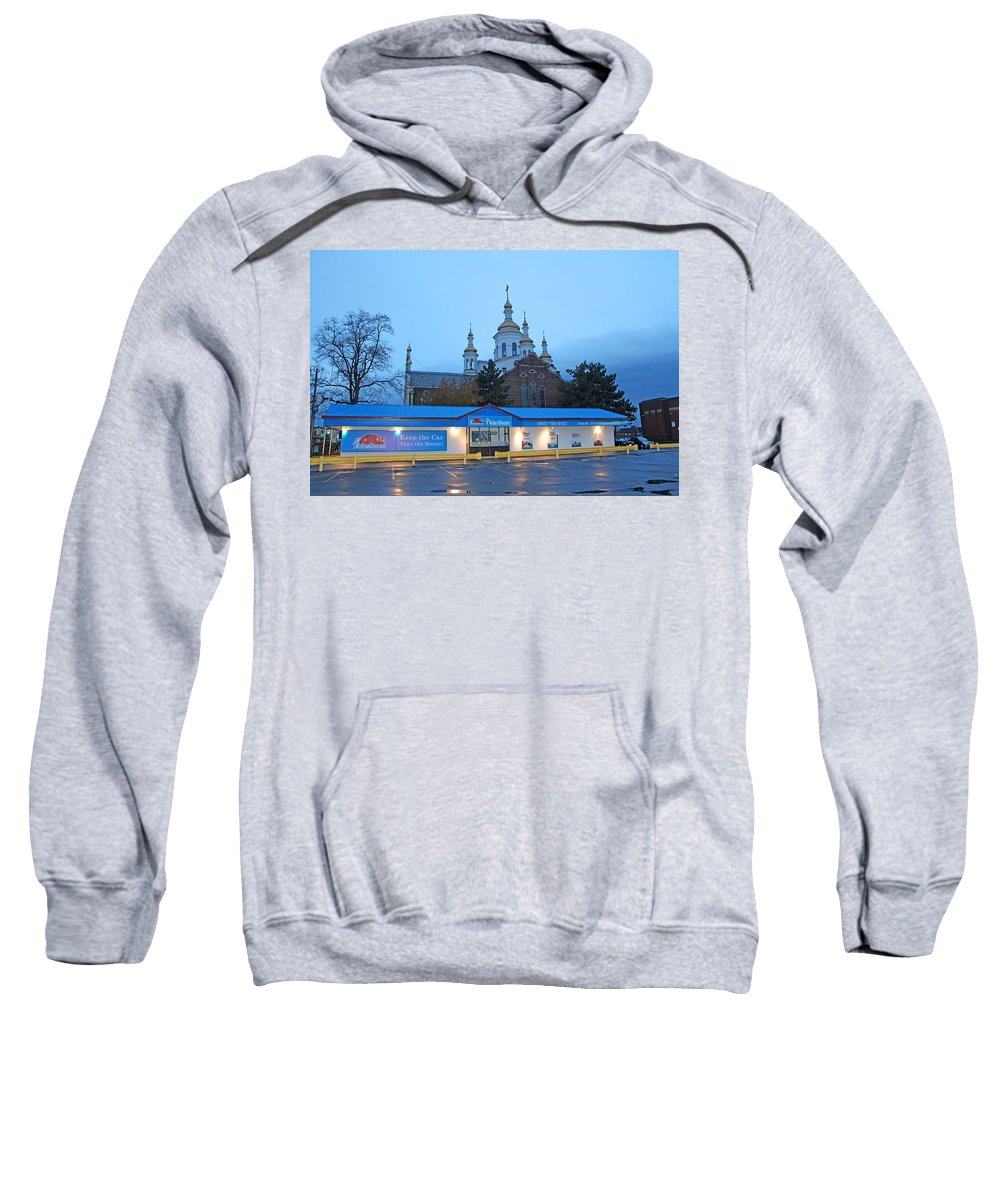 Hamilton Sweatshirt featuring the photograph Hamilton Orthodox Church by Munir Alawi