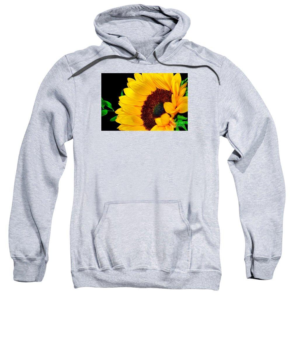 Happy Sunflower Sweatshirt featuring the photograph Happy Sunflower by Mariola Bitner