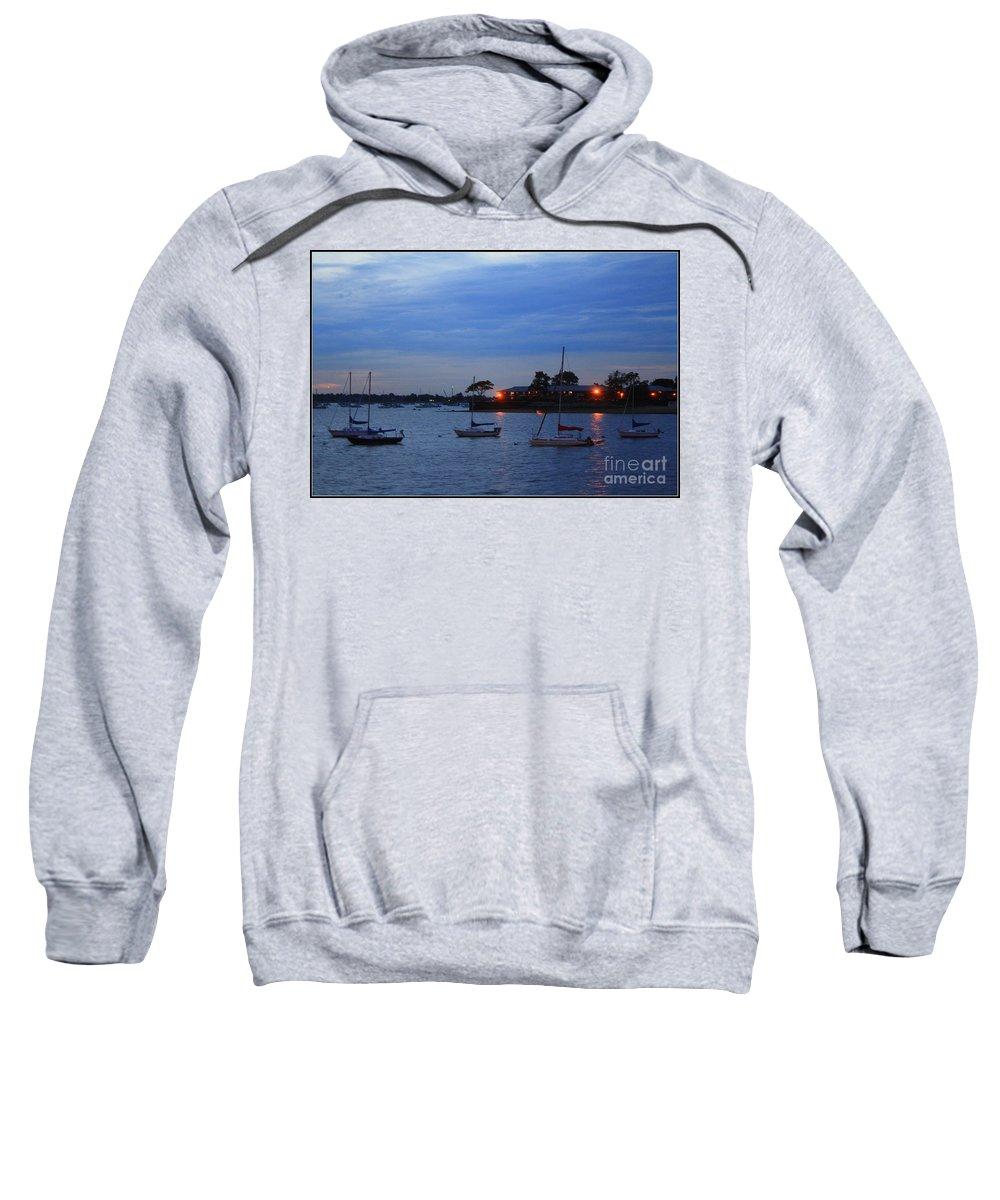 Sunsets Sweatshirt featuring the photograph Harbor Lights by Dora Sofia Caputo Photographic Design and Fine Art