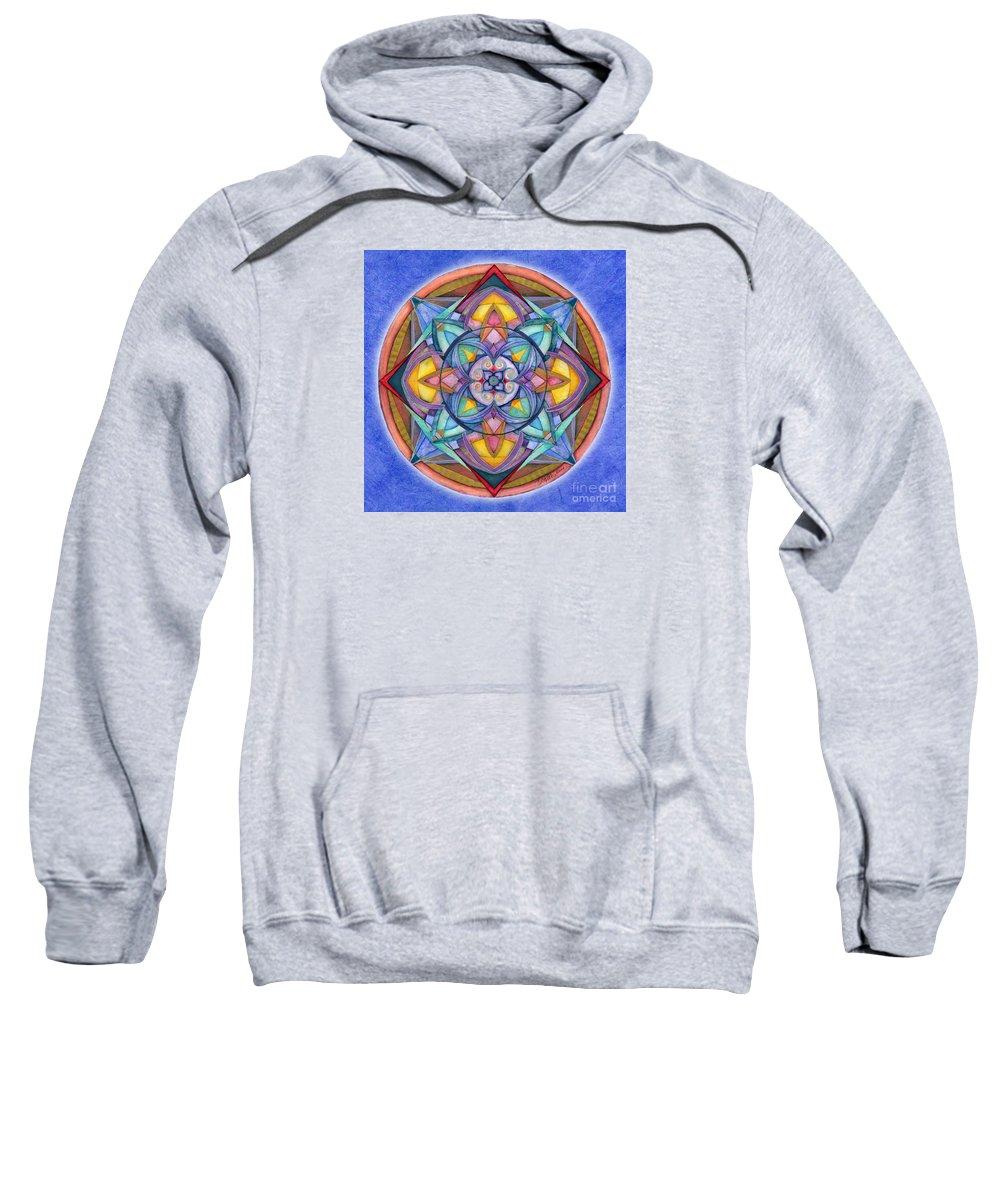Mandala Art Sweatshirt featuring the painting Harmony Mandala by Jo Thomas Blaine