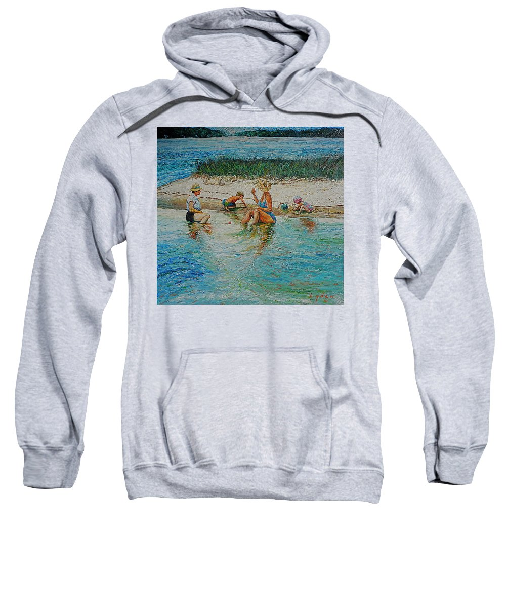 Water Sweatshirt featuring the painting Hatchet Point by Les Lyden