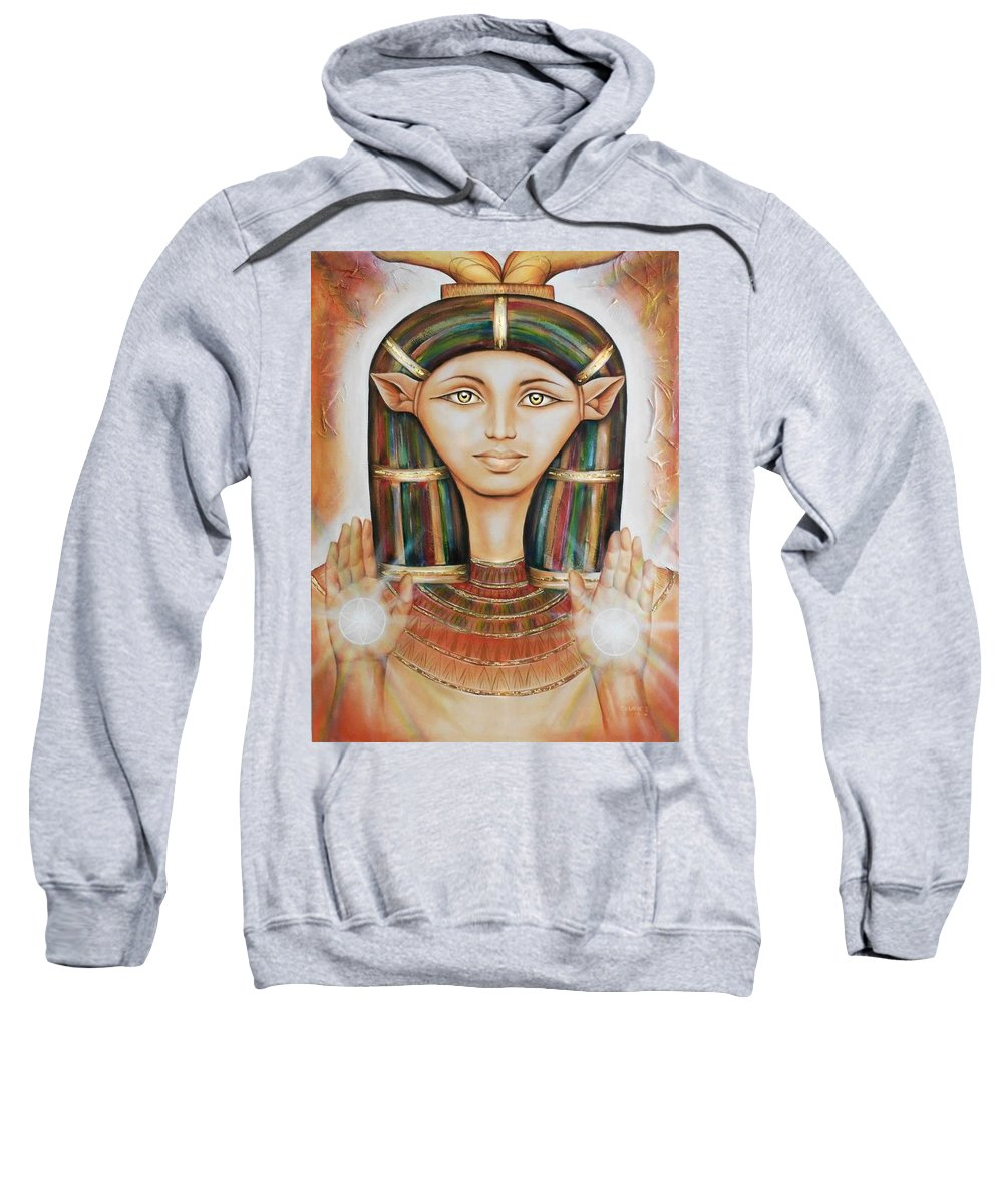 Sweatshirt featuring the painting Hathor Rendition by Robyn Chance
