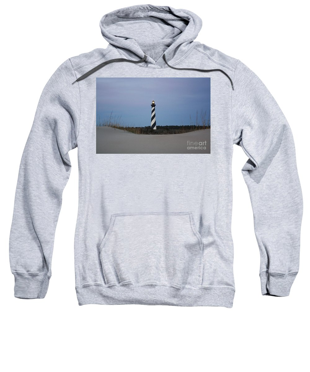 Sand Sweatshirt featuring the digital art Hatteras Morning by Tony Cooper