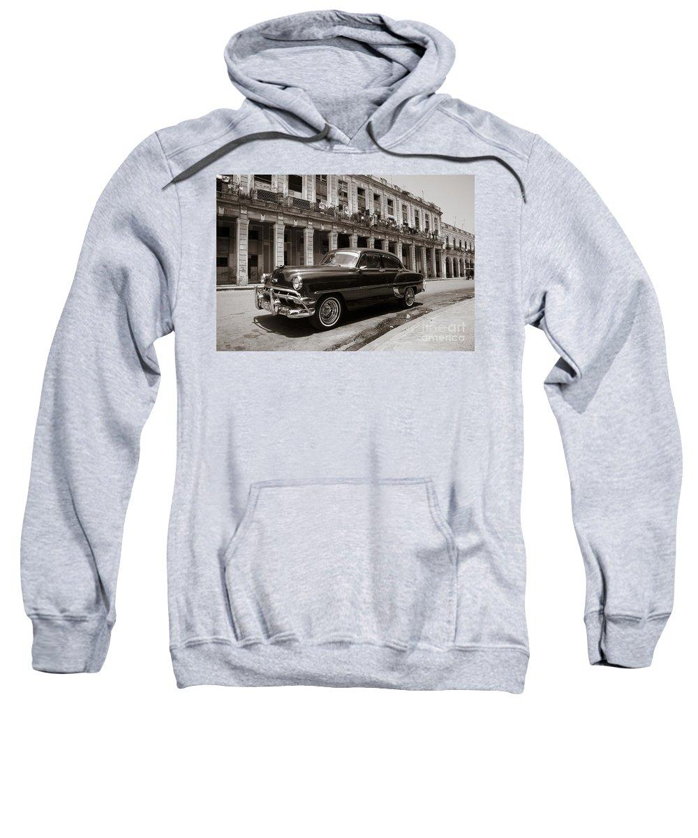 Havana Sweatshirt featuring the photograph Havana Chevy by Chris Dutton