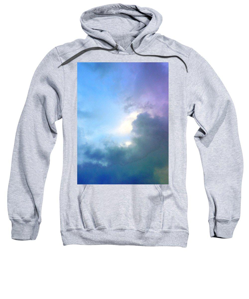 Hawaiian Landscape Sweatshirt featuring the digital art Hawaiian Landscape by D Preble