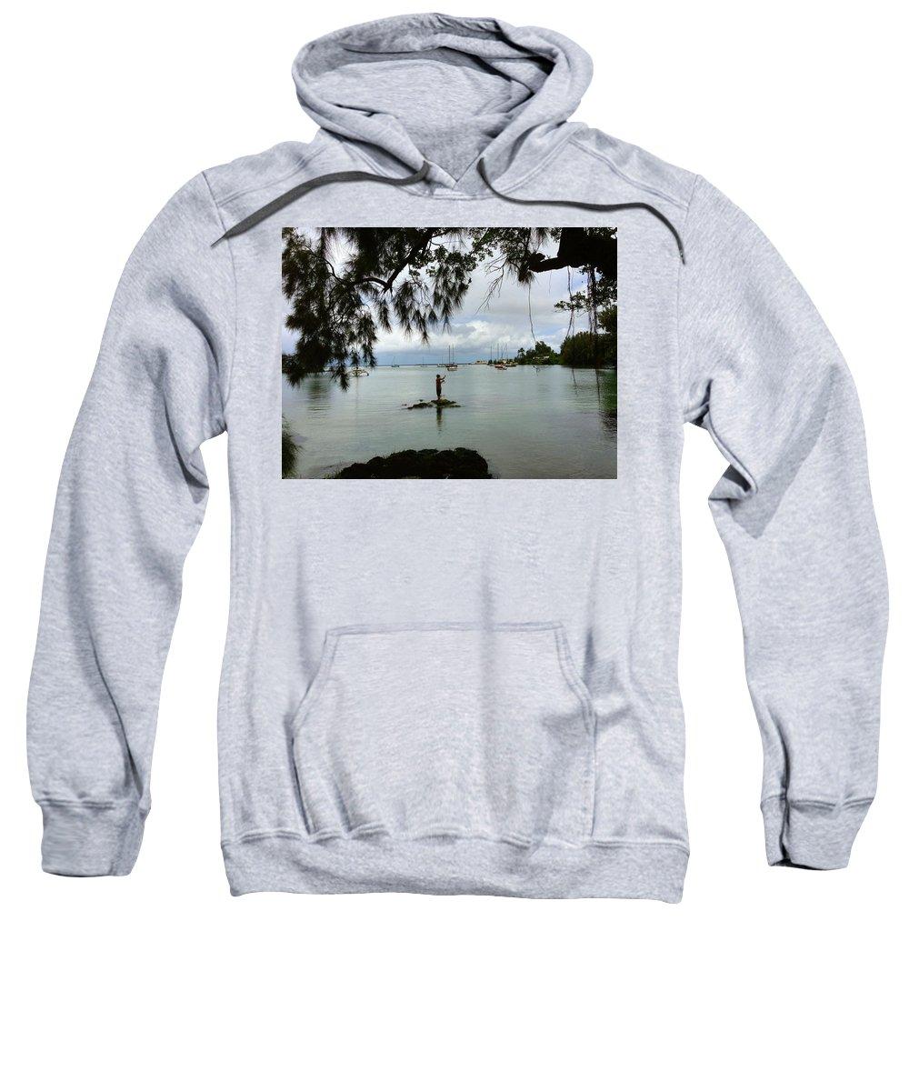 Hawaiiana Sweatshirt featuring the digital art Hawaiiana 33 by D Preble
