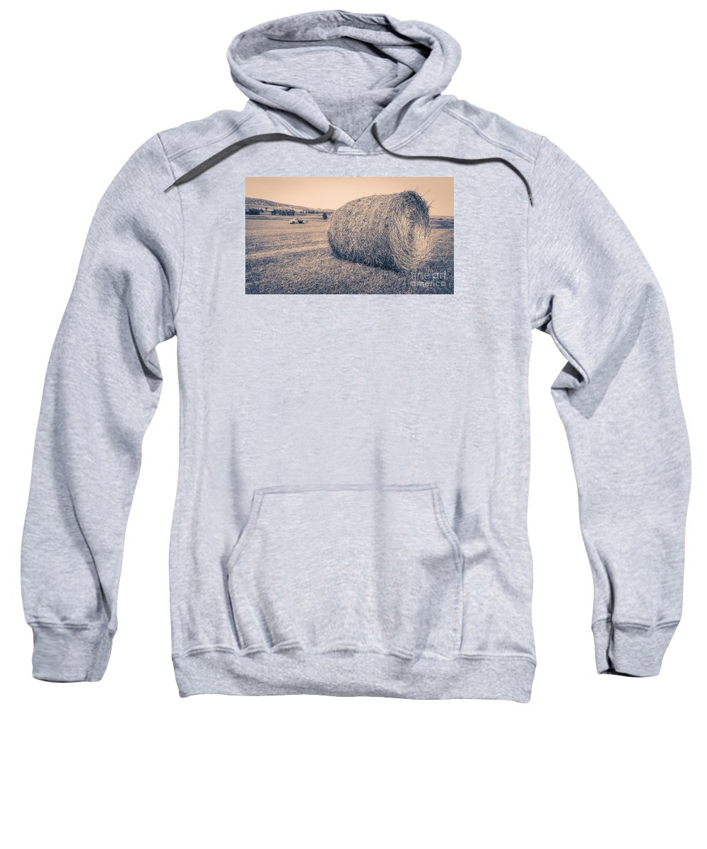 National Sweatshirt featuring the photograph Haying The Field by Edward Fielding