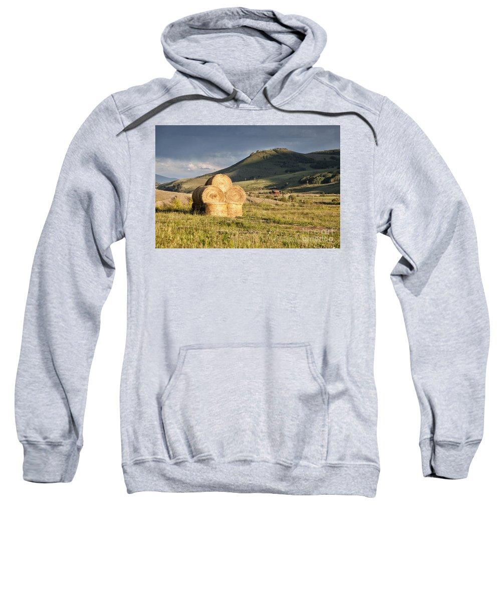 Colorado Sweatshirt featuring the photograph Haystack by Timothy Hacker