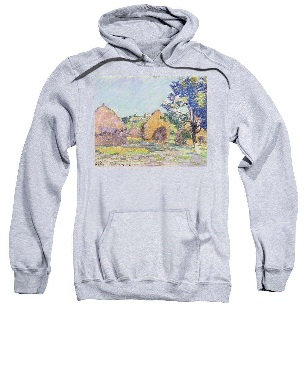 Impressionistic Landscape Drawings Hooded Sweatshirts T-Shirts