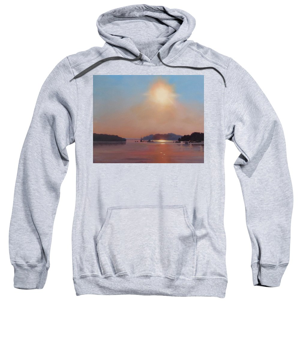 Hull Sweatshirt featuring the painting Hazy Hot And Humid by Dianne Panarelli Miller