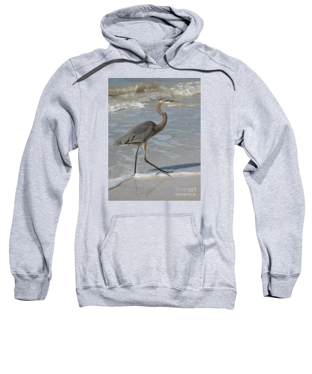 Heron Sweatshirt featuring the photograph Head For by Christiane Schulze Art And Photography