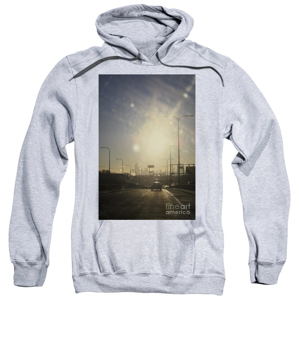 City Sweatshirt featuring the photograph Heading South On The Kennedy by Margie Hurwich