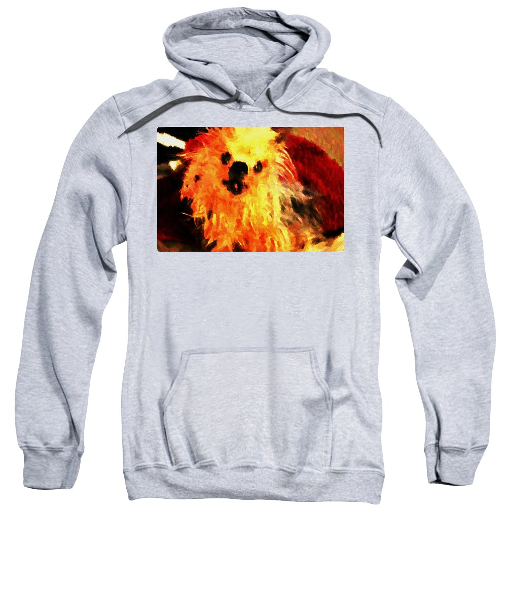 Dog Sweatshirt featuring the mixed media Healing by Artista Elisabet