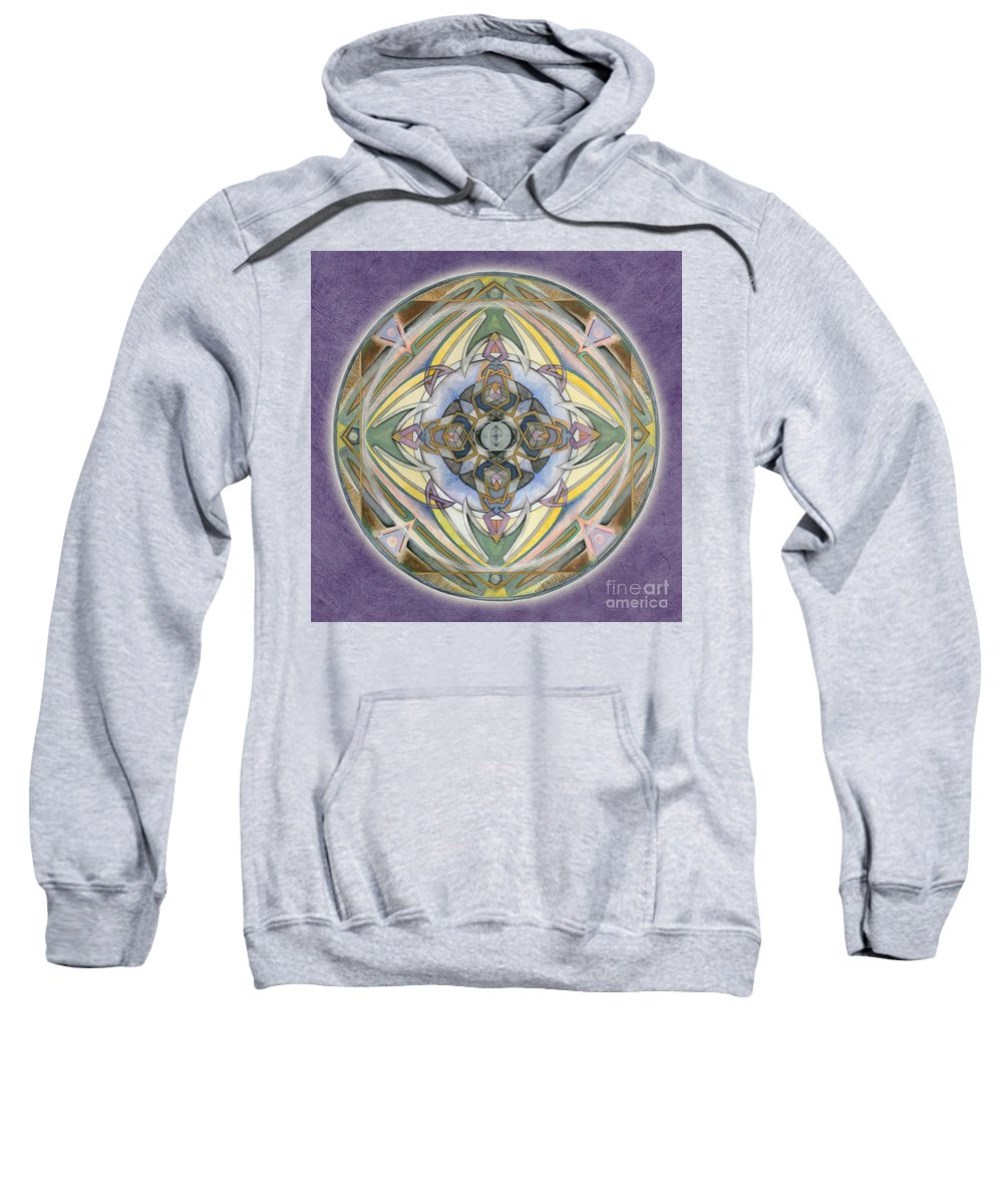 Mandala Art Sweatshirt featuring the painting Healing Mandala by Jo Thomas Blaine