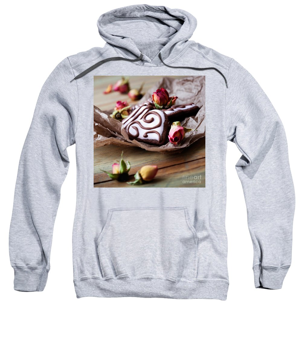 Baked Sweatshirt featuring the photograph Heart Cookies by Kati Finell