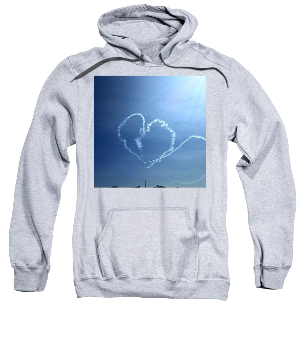 Sweatshirt featuring the photograph Heart by Sue Conwell