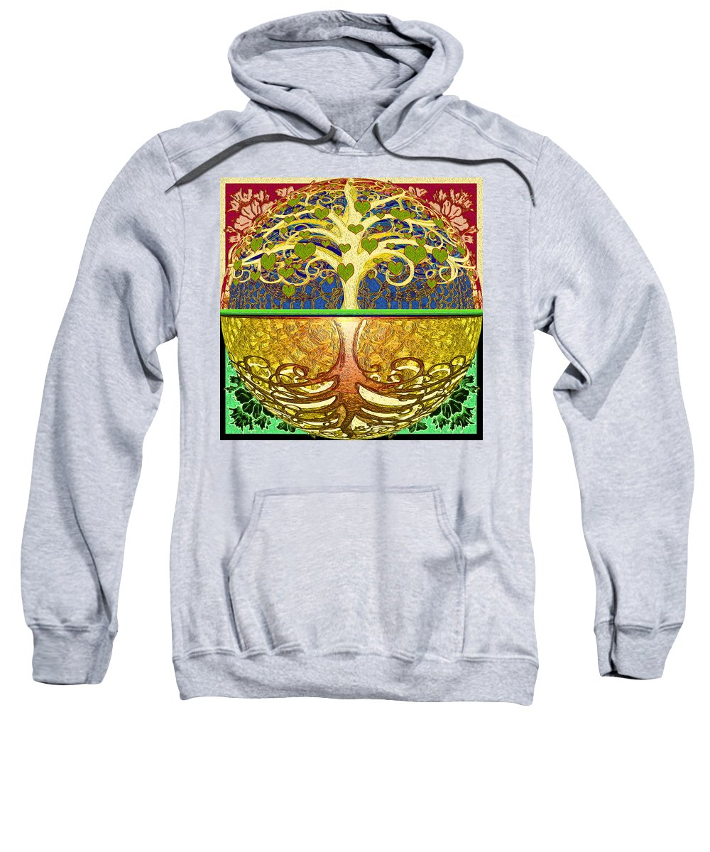 Tree Of Life Sweatshirt featuring the digital art Heart Tree by Amelia Carrie