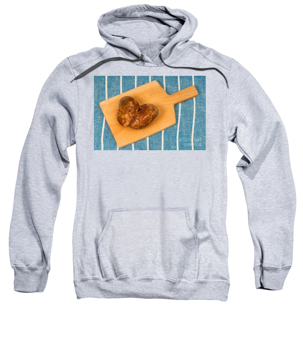 Potato Sweatshirt featuring the photograph Hearty Potatoe by Les Palenik