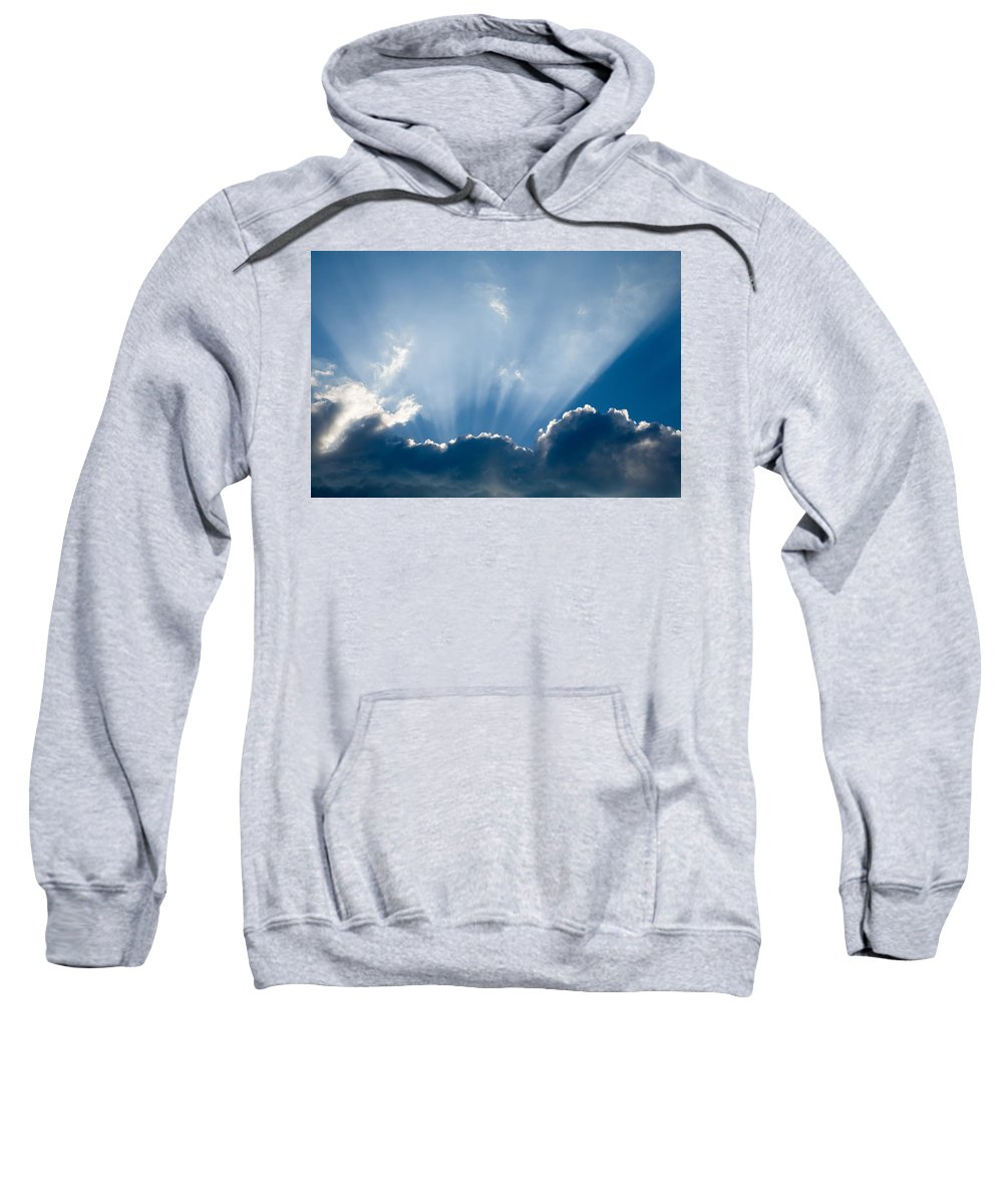 Sun Sweatshirt featuring the photograph Heavenly Rays by Ian Middleton