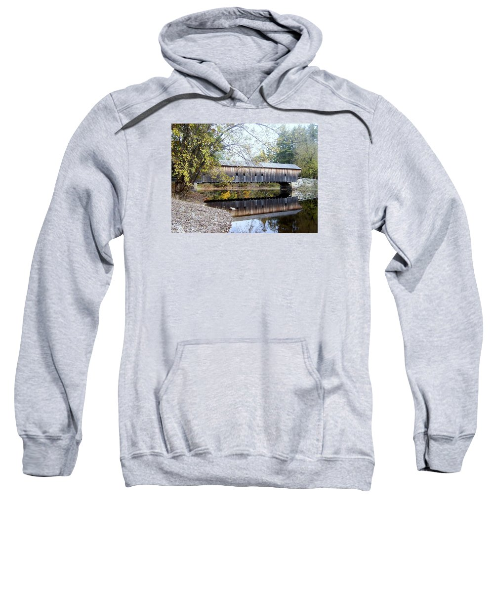 Covered Bridges Sweatshirt featuring the photograph Hemlock Covered Bridge by Catherine Gagne