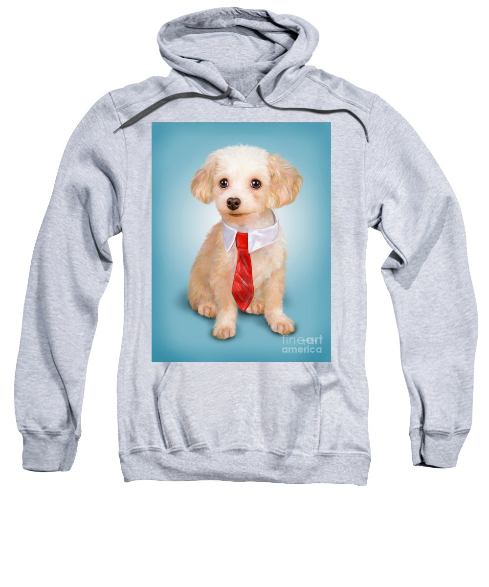 Toy Sweatshirt featuring the painting Hermes by Catia Lee